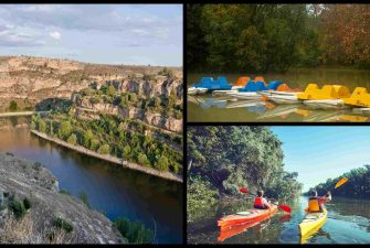 Piragüismo en hoces del rio duraton en Segovia